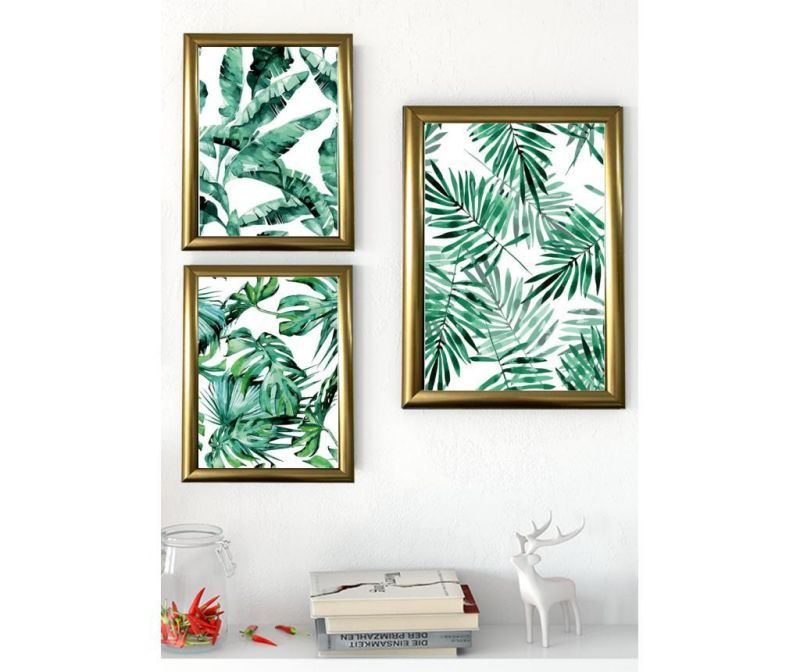 Set 3 tablouri Palms