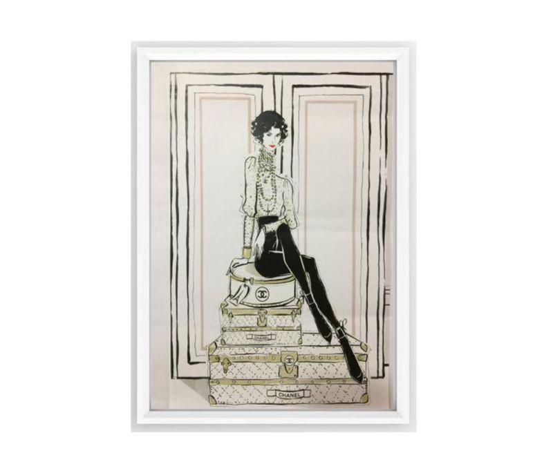 Tablou Chanel Suitcases 23.5x33.5 cm