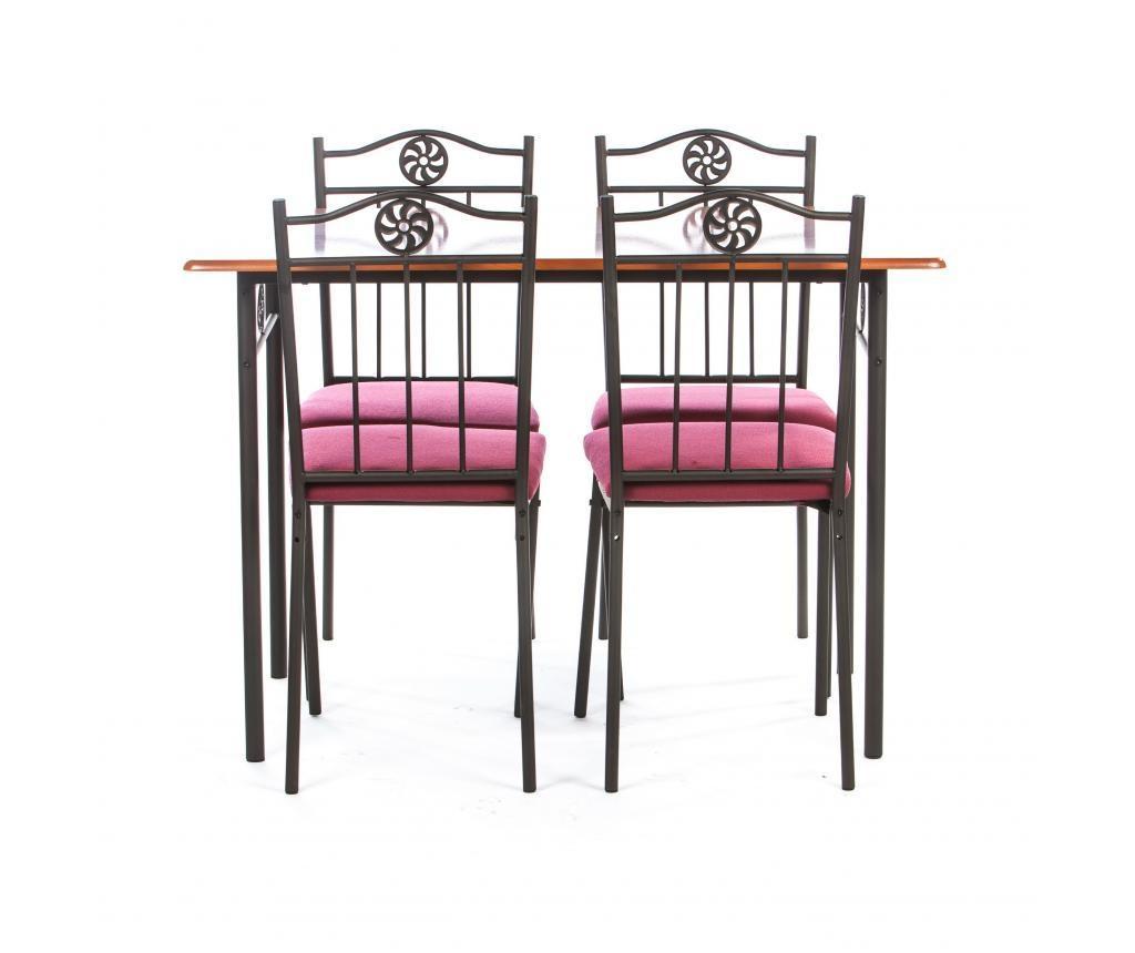 Set vrtna miza in 4 stola Victory Red
