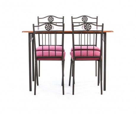 Комплект маса и 4 стола за екстериор Victory Red