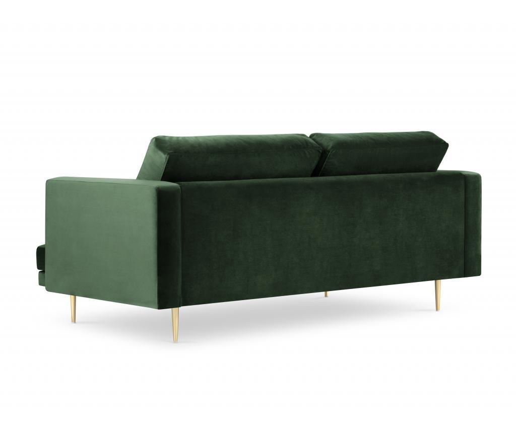 Canapea cu 3 locuri Brunello Bottle Green