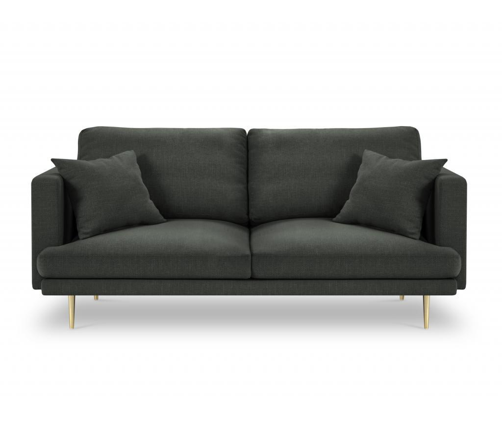 Canapea cu 3 locuri Flavio Dark Grey