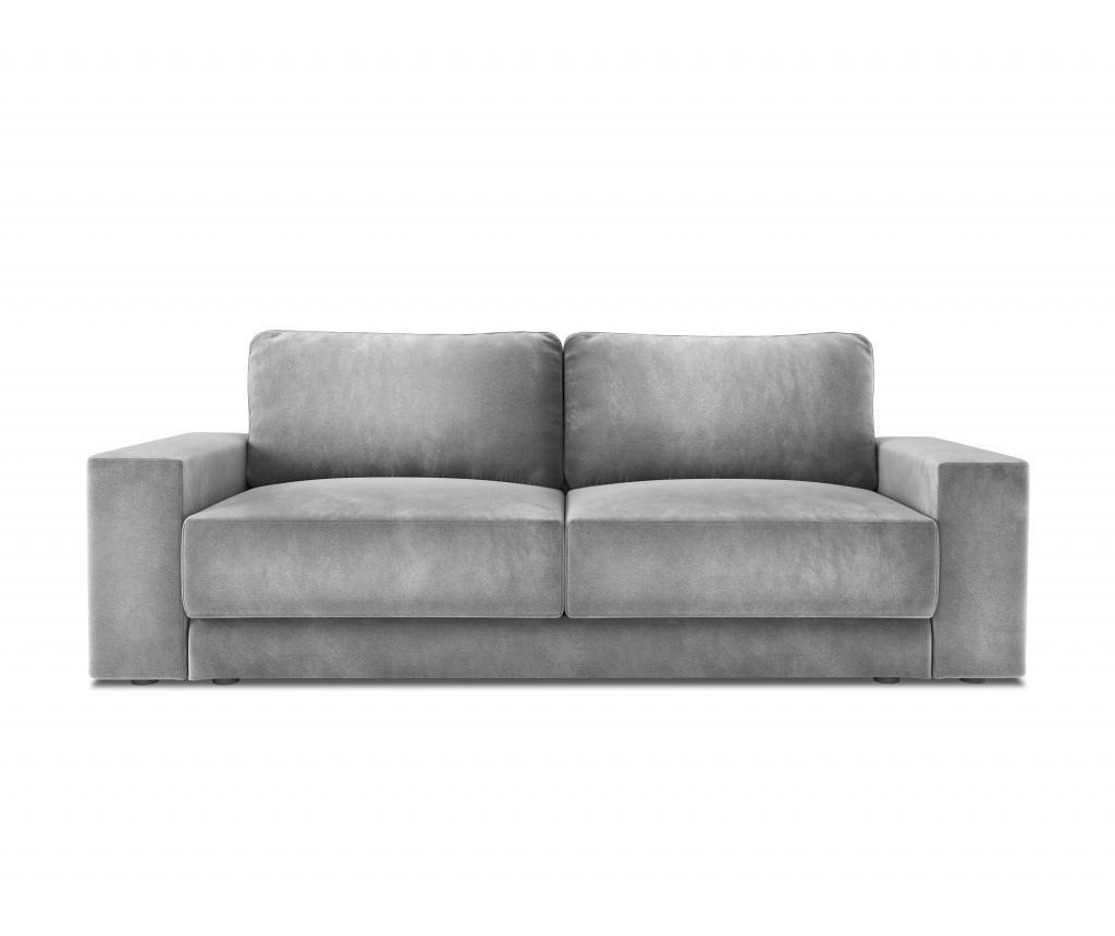 Canapea extensibila cu 4 locuri Gaia Light Grey