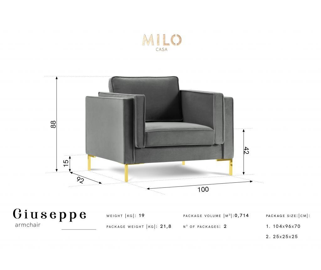 Fotelja Giuseppe Grey