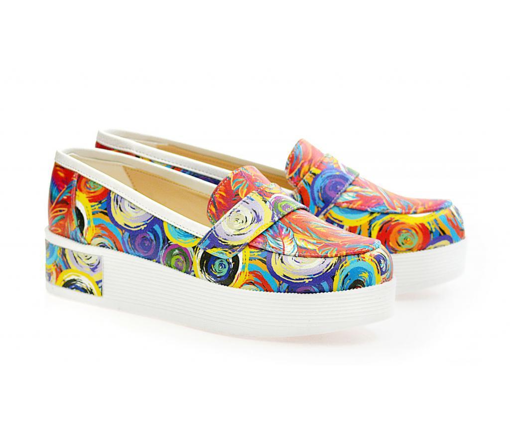 Pantofi dama Colorful Circles 39 - Neefs, Multicolor