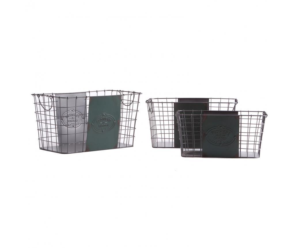 Set 3 cosuri pentru haine - Last Deco, Gri & Argintiu