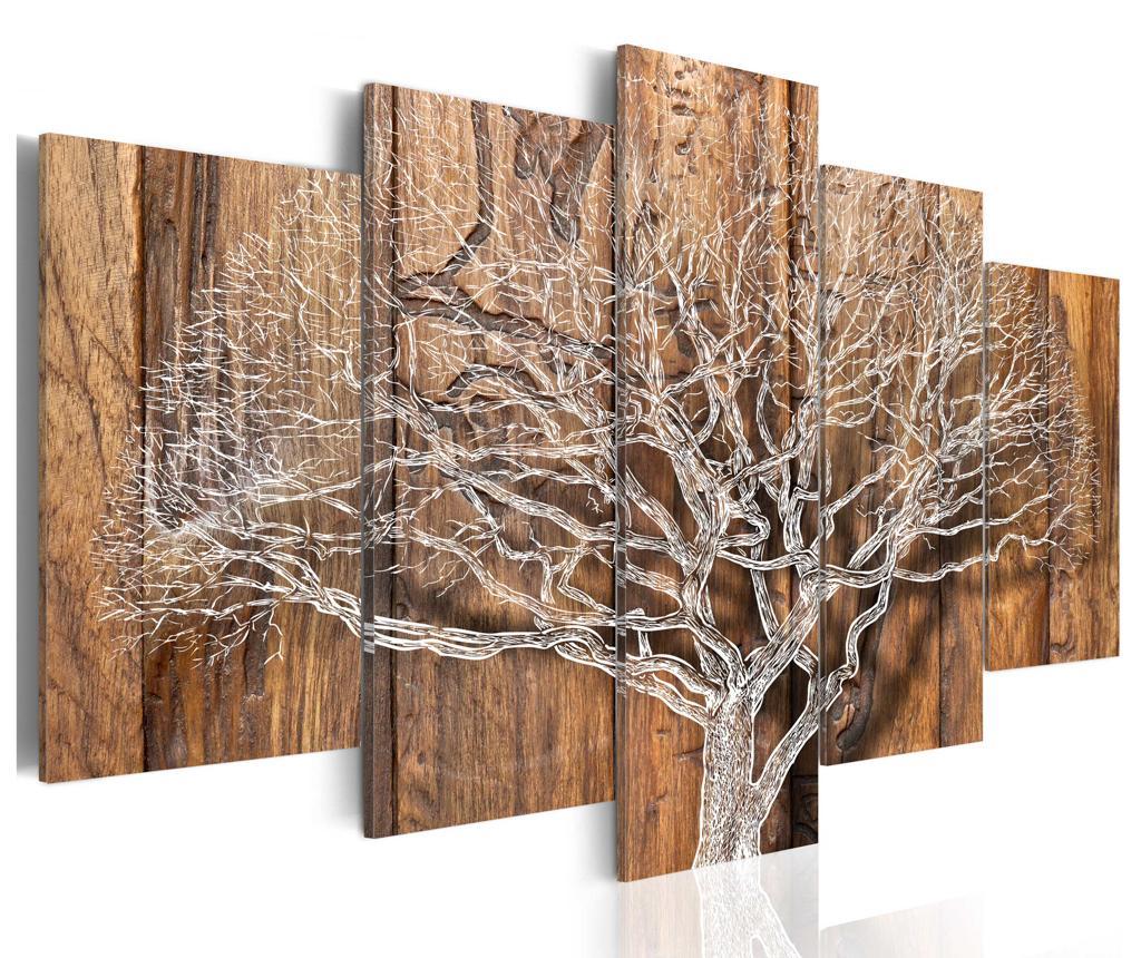 Set 5 tablouri Tree Chronicle - Artgeist, Multicolor
