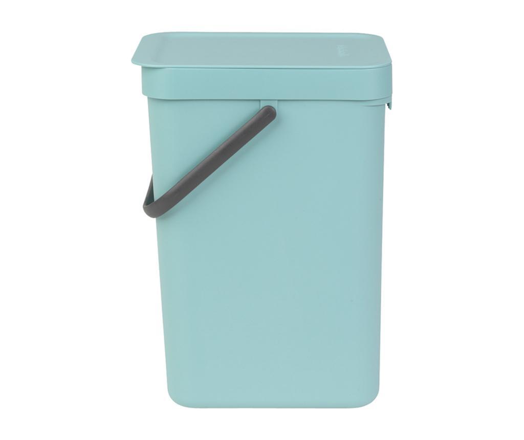 Cos de gunoi cu capac Brabantia Sort & Go Mint 12 L - Brabantia, Verde