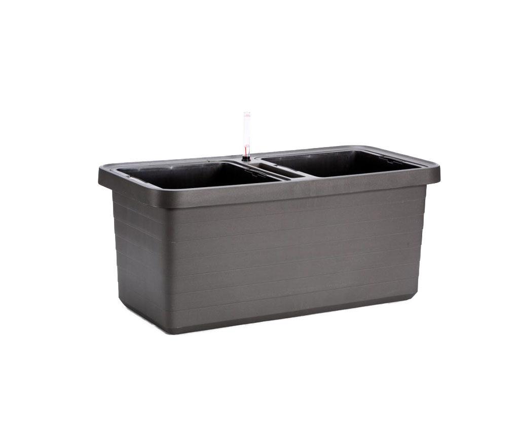 Jardiniera Duo - Plastia, Gri & Argintiu