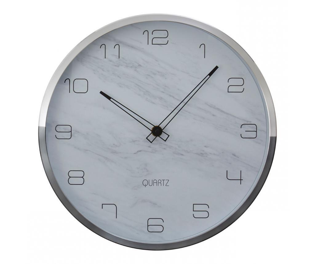 Ceas de perete Elko Grey and Silver - Premier, Gri & Argintiu