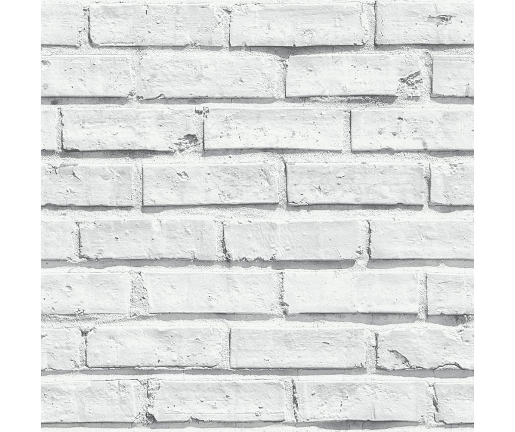 Tapet White Brick 53x1005 cm - Arthouse, Alb