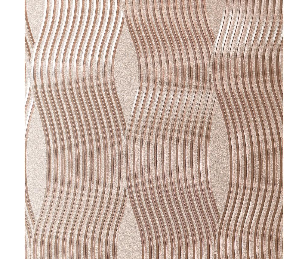 Tapet Foil Wave Rose Gold 53x1005 cm - Arthouse, Galben & Auriu