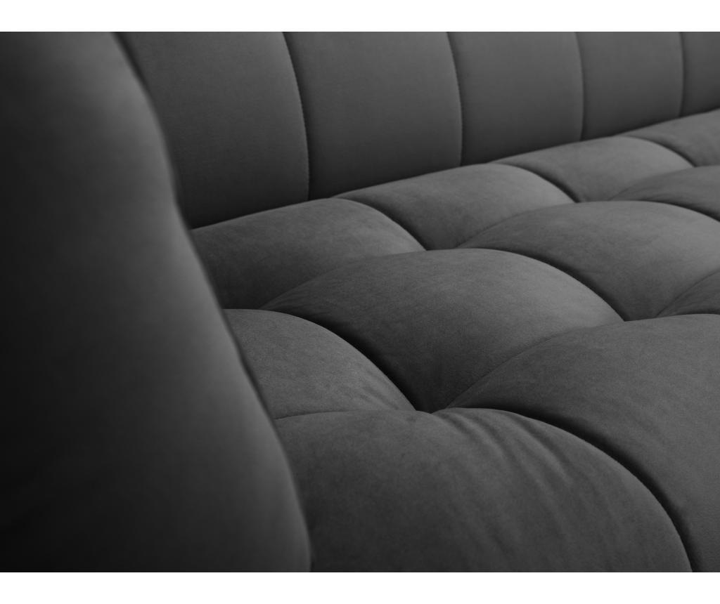 Canapea 2 locuri Lune Dark Grey