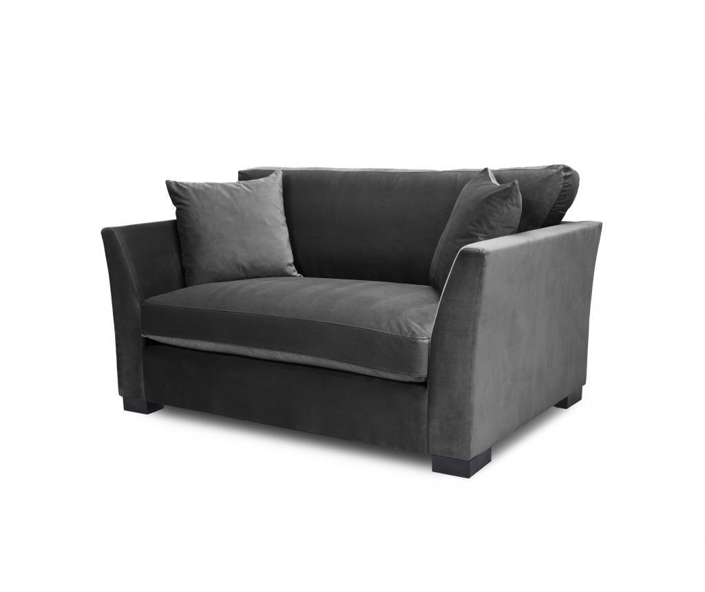 Canapea 2 locuri Times Dark Grey