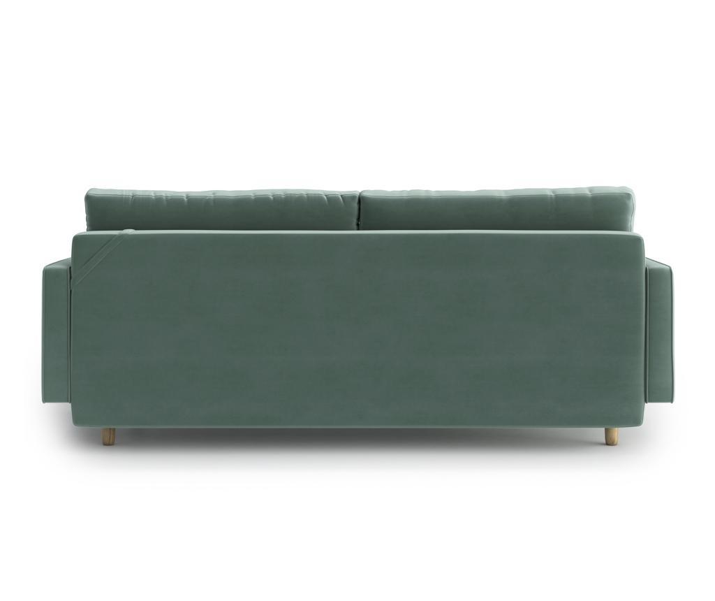 Esme Light Green Kihúzható háromszemélyes kanapé