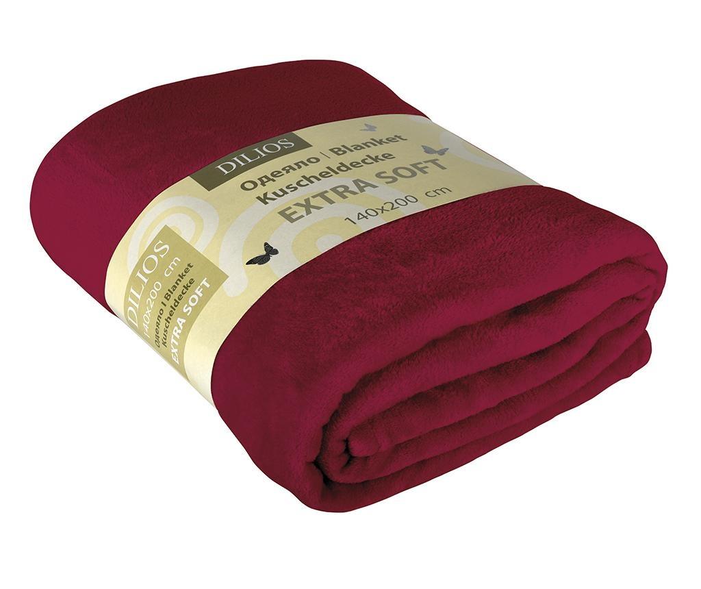 Patura Extra Soft Red 140x200 cm