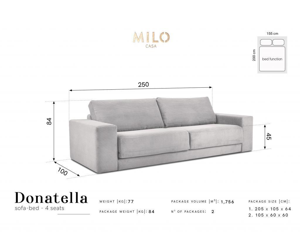 Četvorosjed na razvlačenje Donatella  Grey