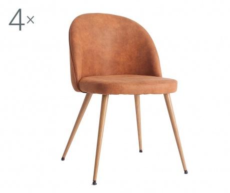 Sada 4 židlí Elvas