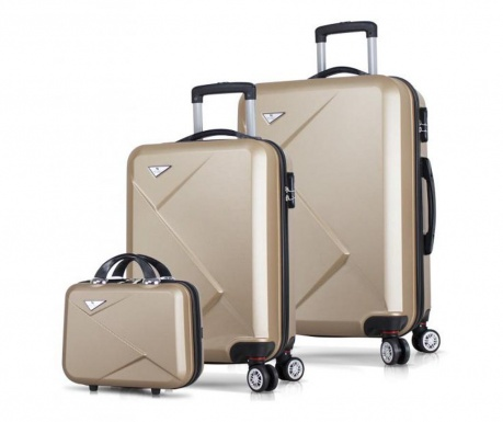 3 db Gurulós bőrönd