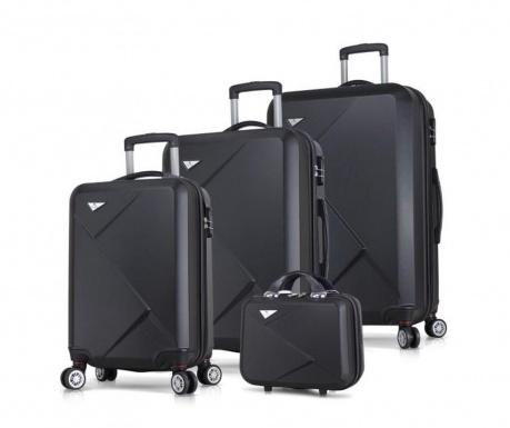 4 db Gurulós bőrönd