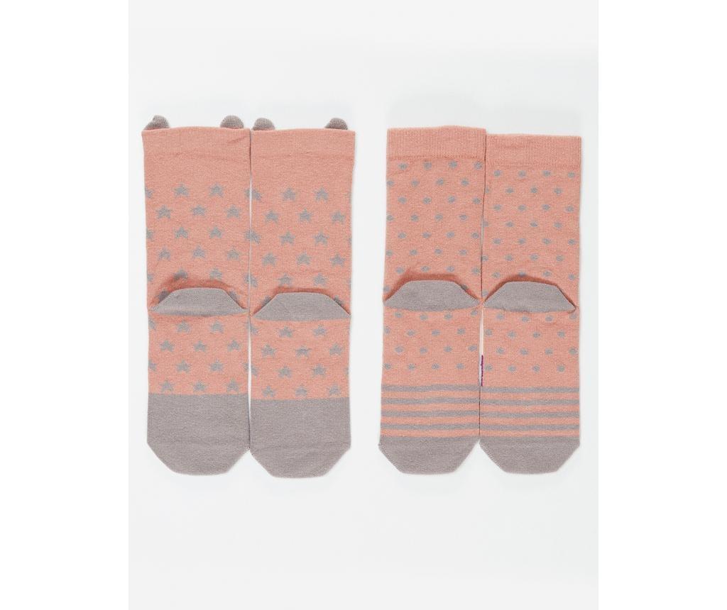 Set 2 para dječjih čarapa Bunny&Stars 4-5 years