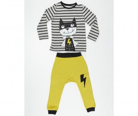 Set bluza si pantaloni pentru copii Hero Cat 6 ani