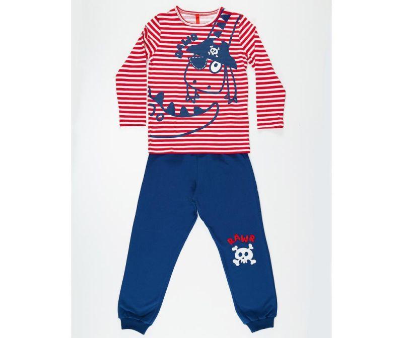 Set bluza si pantaloni pentru copii Pirate Striped 7 ani