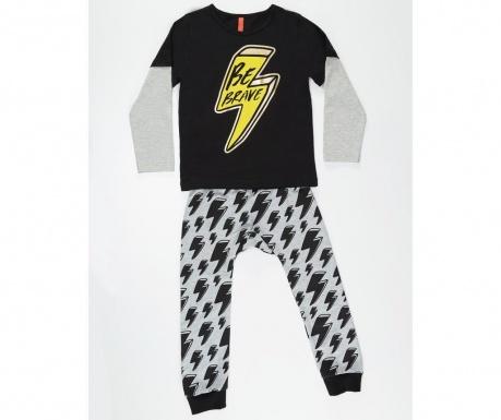 Set bluza si pantaloni pentru copii Yellow Thunder 8 ani