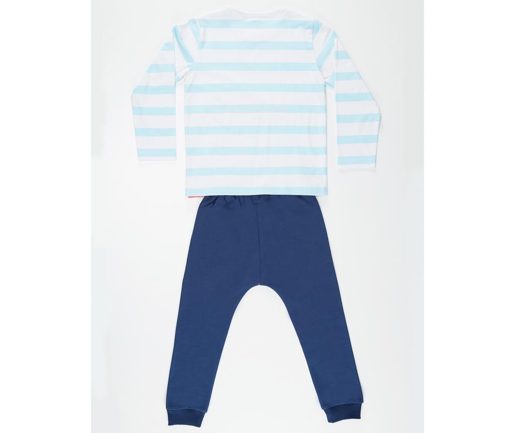 Set bluza si pantaloni pentru copii Orange Dino 2 ani