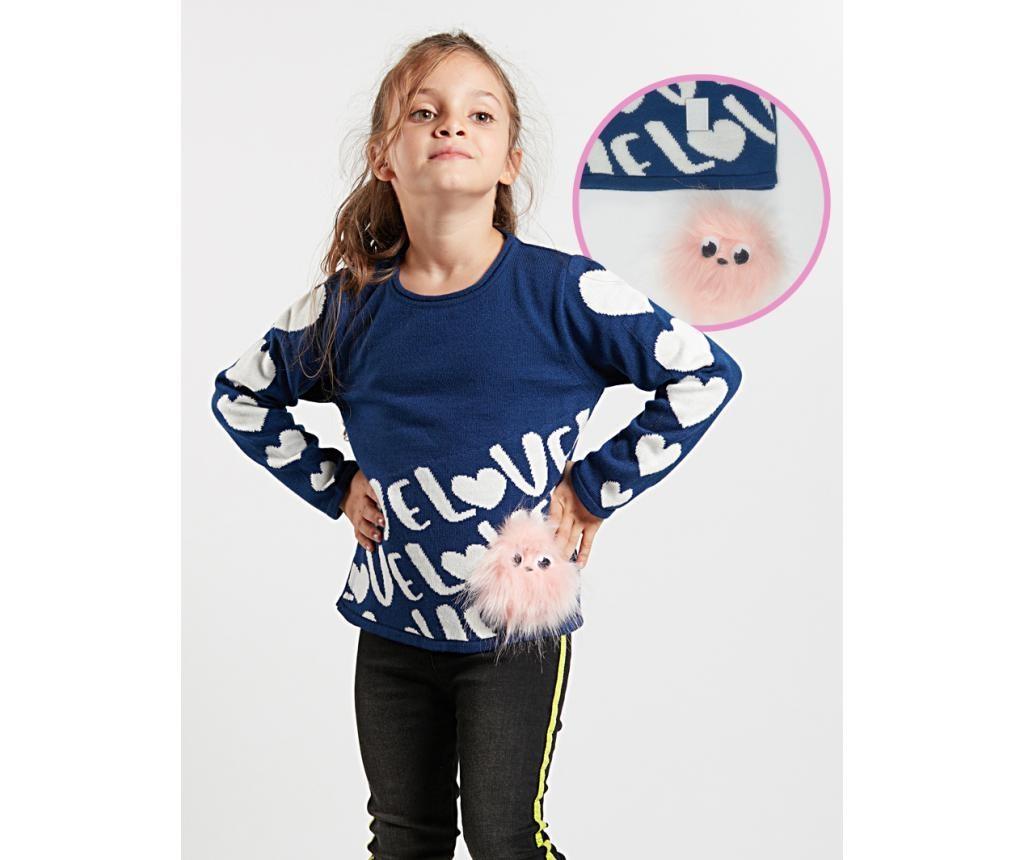 Pulover Hearts&Pompom 7-8 ani
