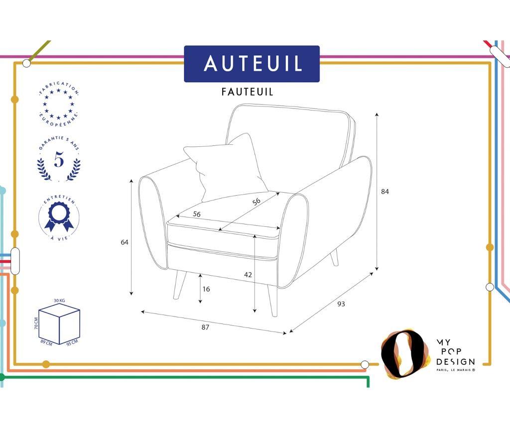 Auteuil Uni Fotel