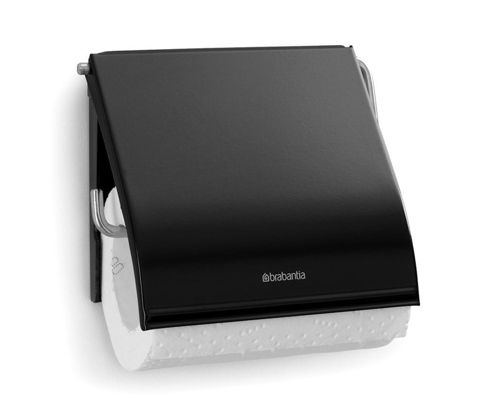 Brabantia Classic Matte Black WC-papír tartó