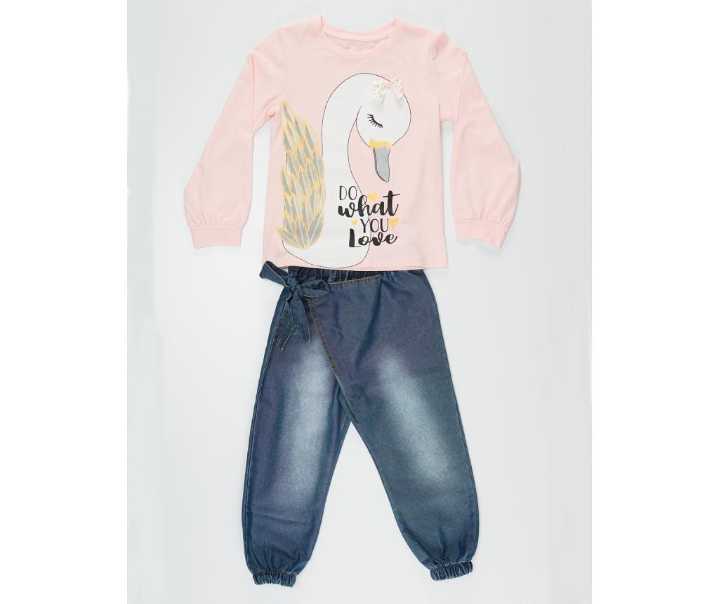 Set dječja bluza i hlače Love Swans 5 god.