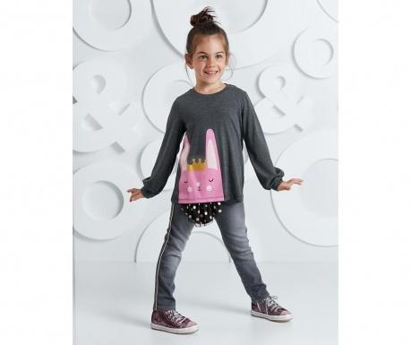 Set bluza si pantaloni pentru copii Bunny 8 ani
