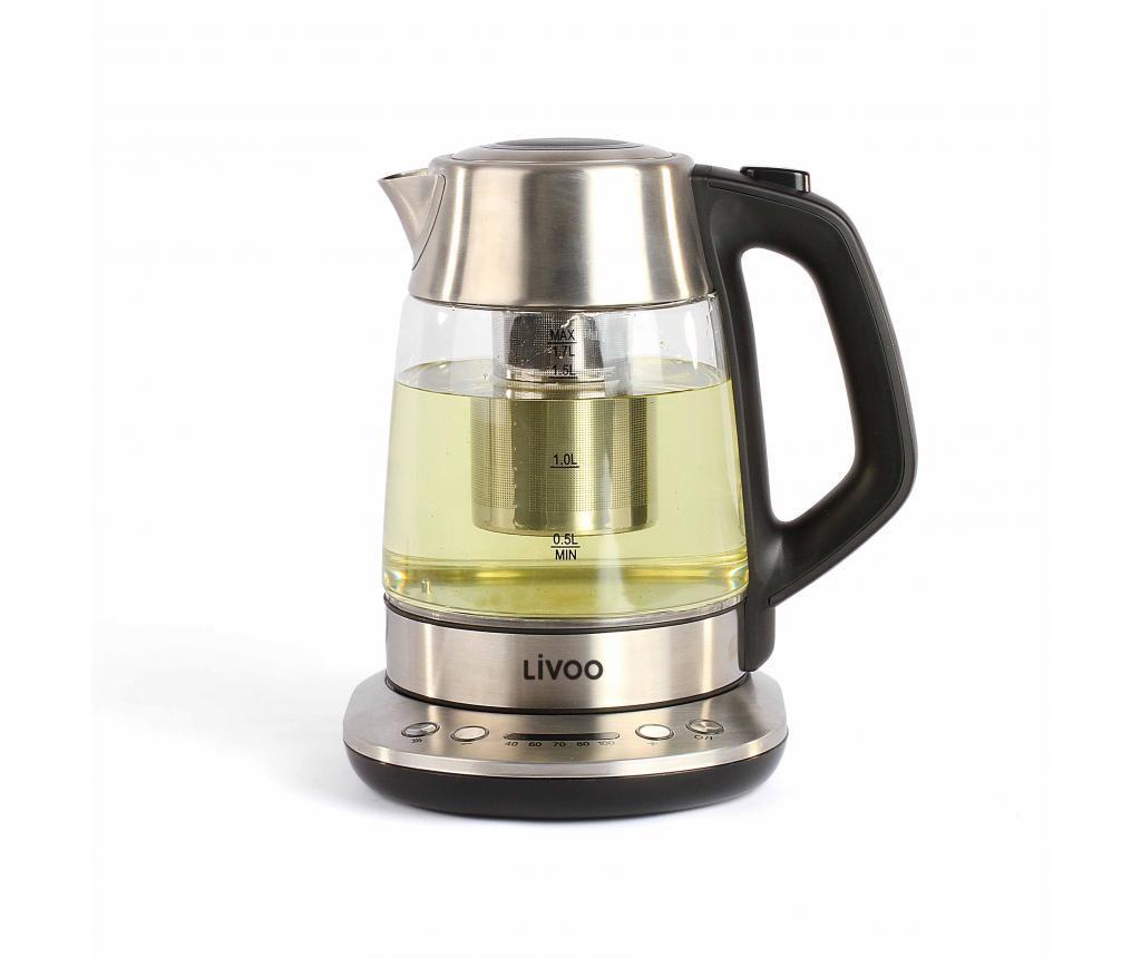 Ceainic electric - LIVOO, Gri & Argintiu