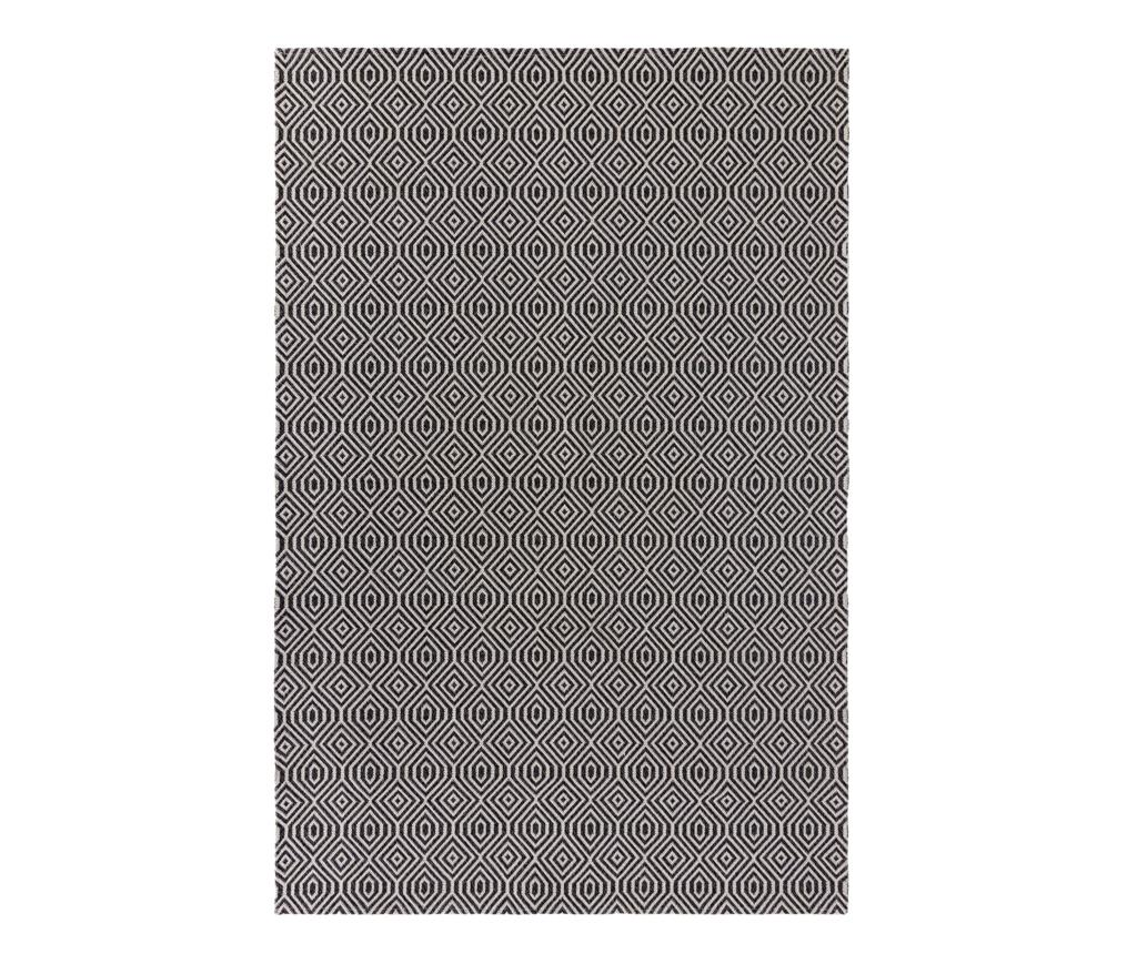 Covor Pappell Black Cream 192x290 cm - Flair Rugs, Negru