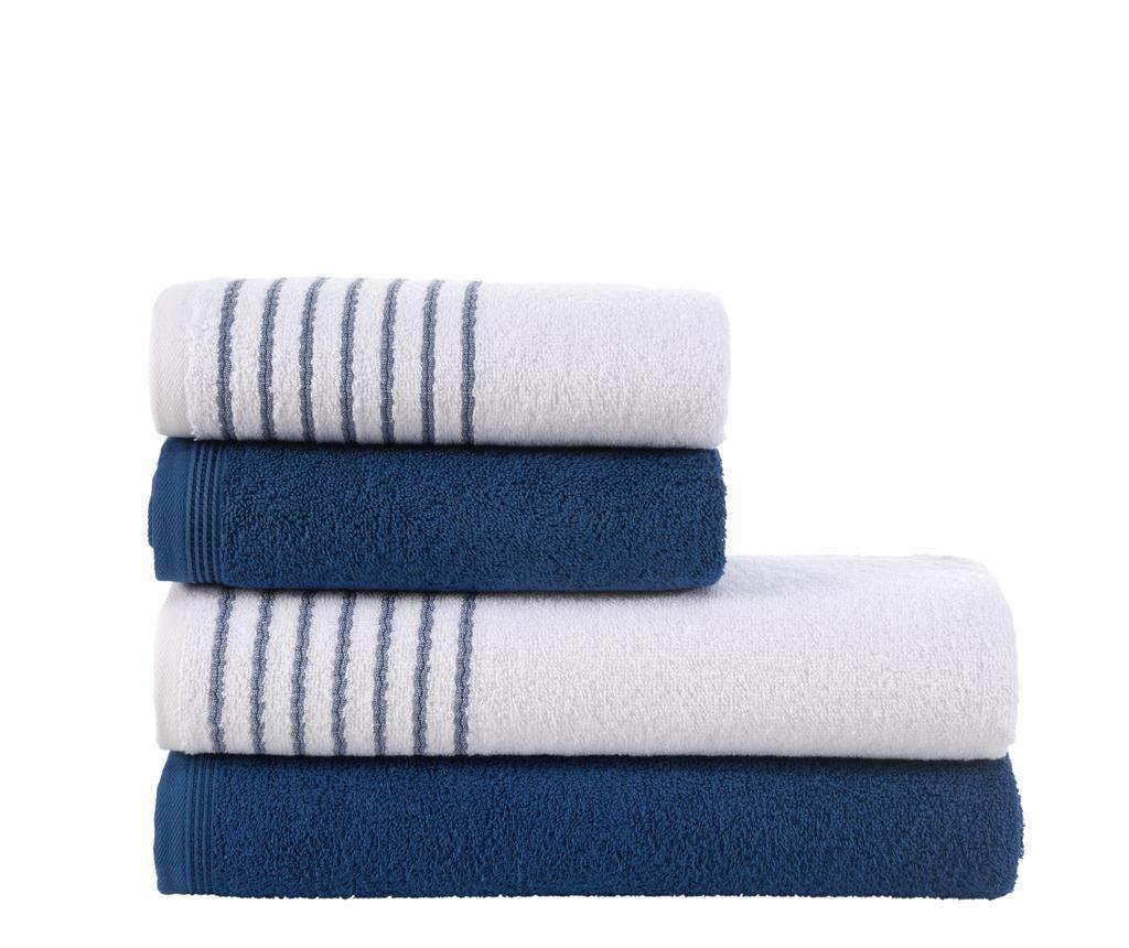 Set 4 prosoape Stripes Blue - Class, Albastru