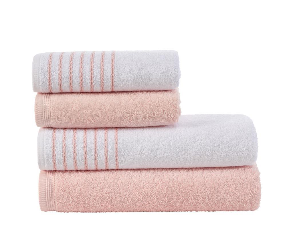 Set 4 prosoape Stripes Pink - Class, Roz