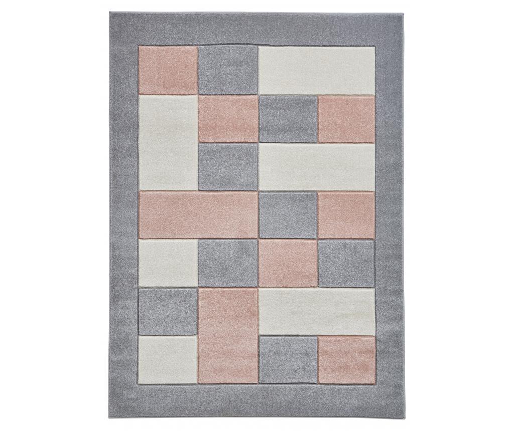 Covor Matrix Grey Pink 160x220 cm - Think Rugs, Gri & Argintiu,Roz
