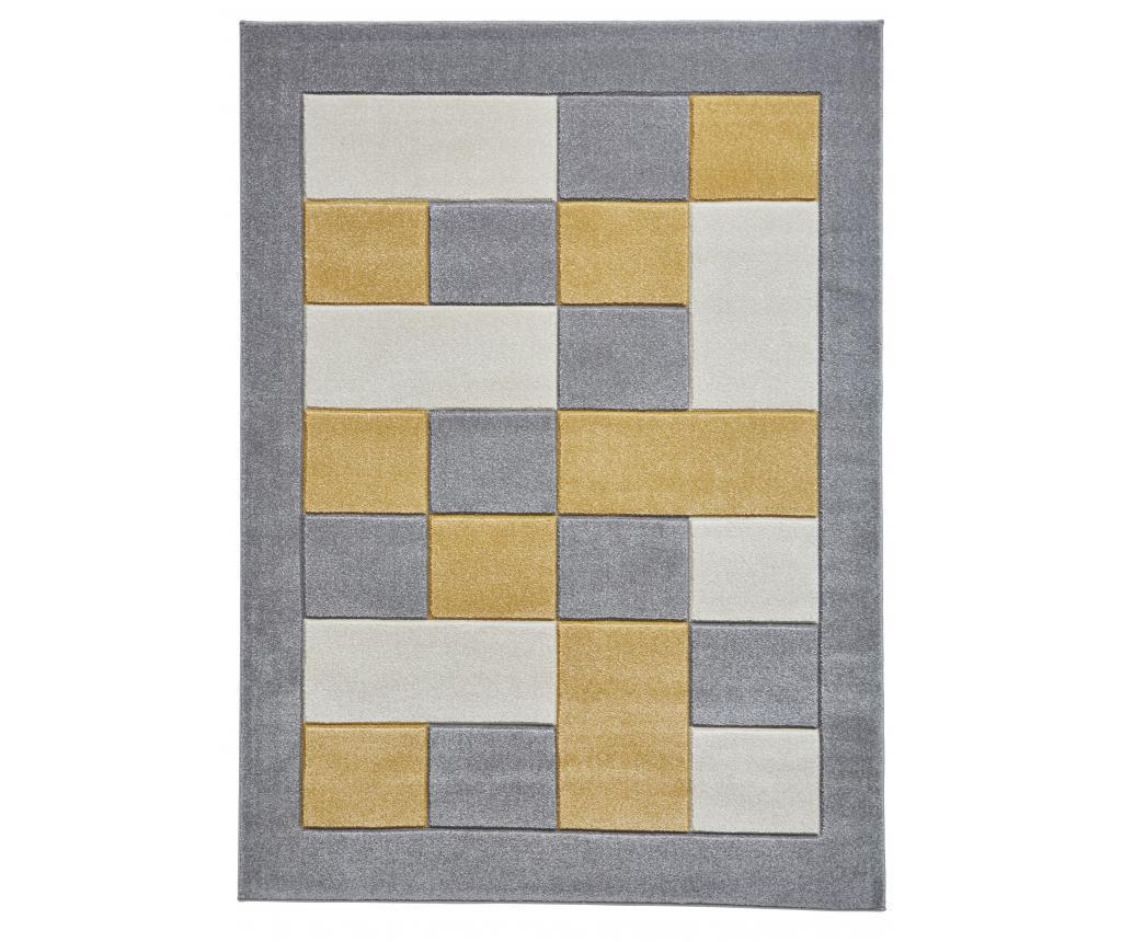 "<span class=""title-long"">Covor Matrix Grey Yellow 160x220 cm - Think Rugs, Galben & Auriu,Gri & Argintiu</span>"
