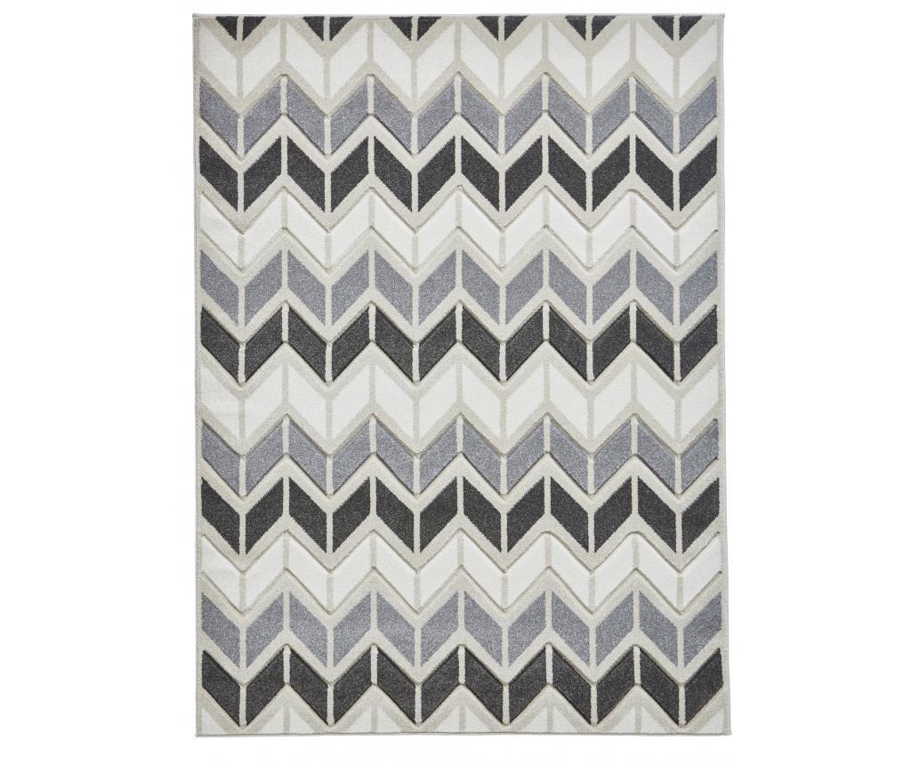 Covor Matrix Grey Brown 160x220 cm - Think Rugs, Gri & Argintiu,Maro