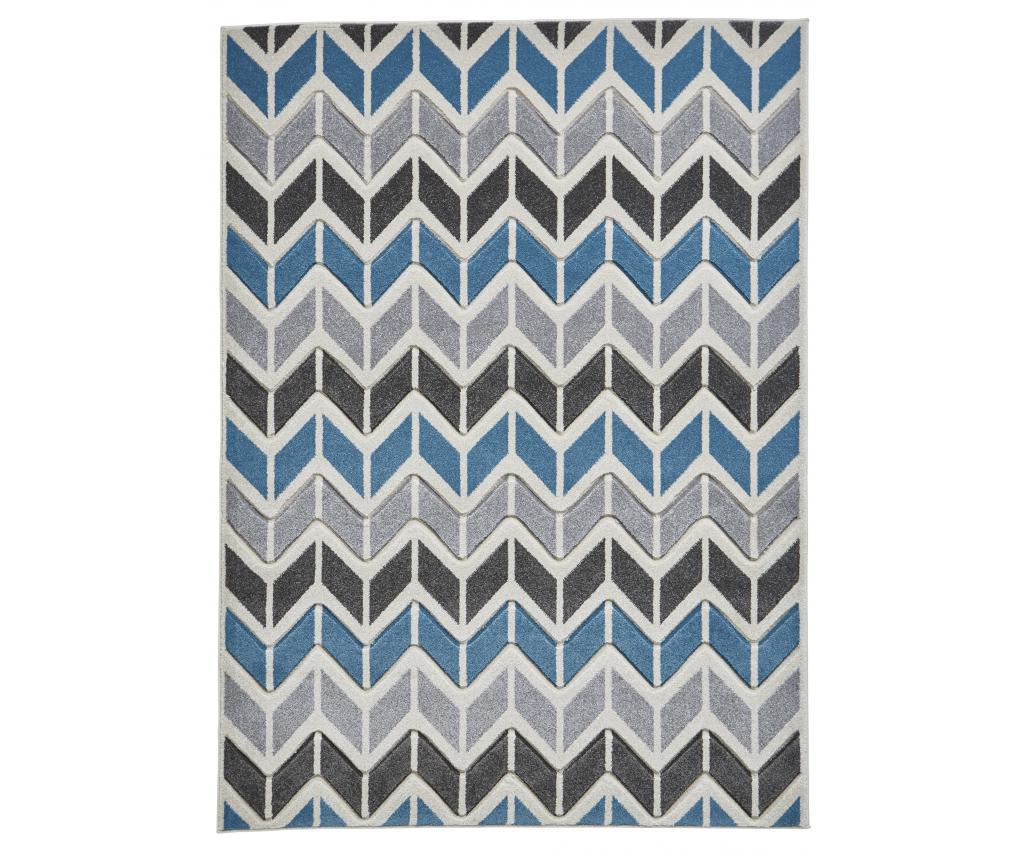 Covor Matrix Grey Blue 160x220 cm - Think Rugs, Albastru,Gri & Argintiu
