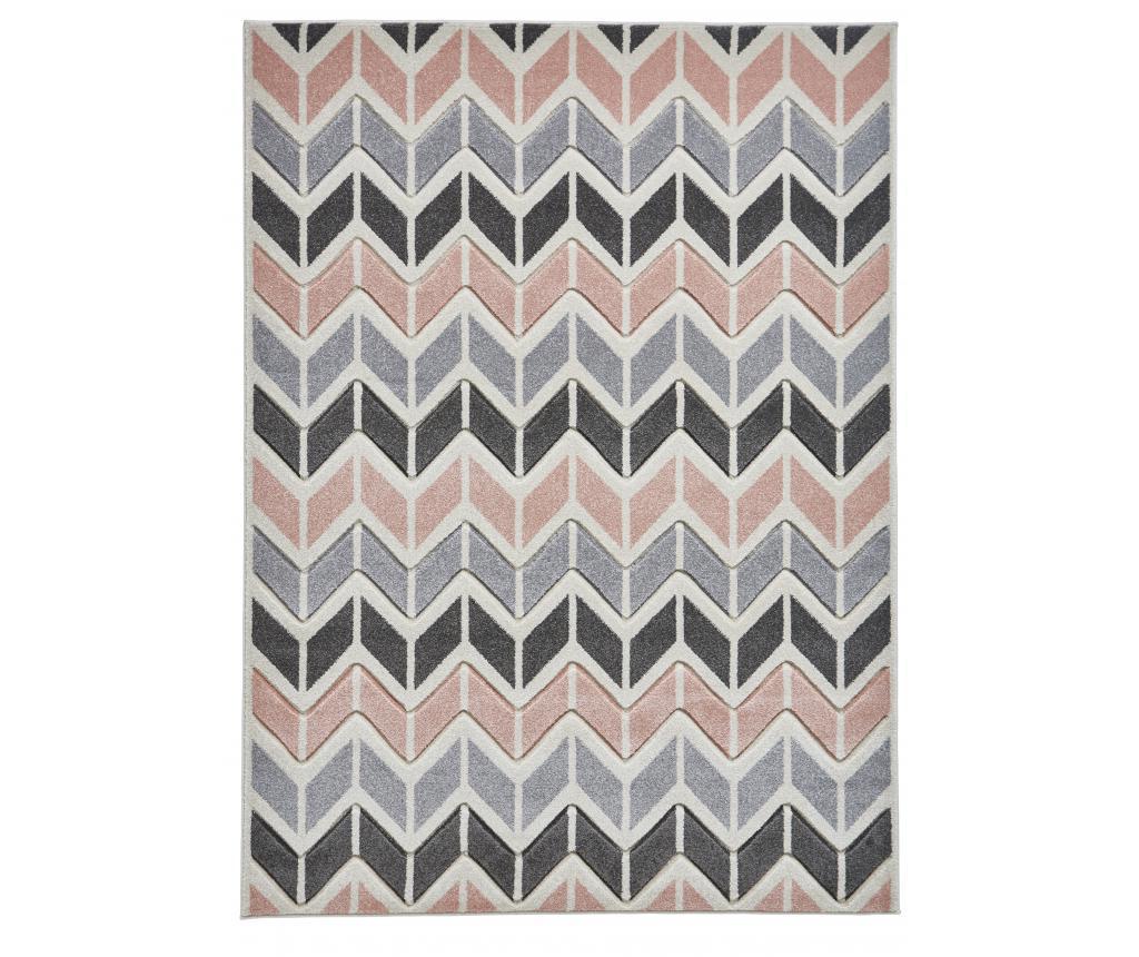 Covor Matrix Grey Pink 120x170 cm - Think Rugs, Gri & Argintiu,Roz