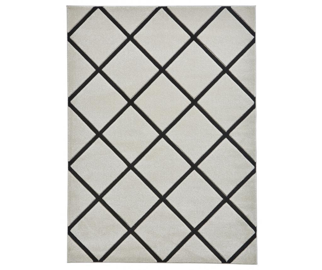 Covor Matrix Grey Black 160x220 cm - Think Rugs, Gri & Argintiu,Negru