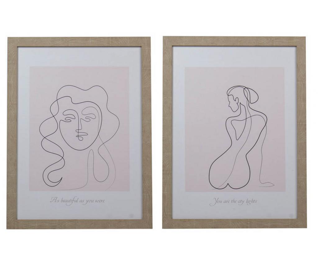 Set 2 tablouri Ebba 45x60 cm - Garpe Interiores, Multicolor