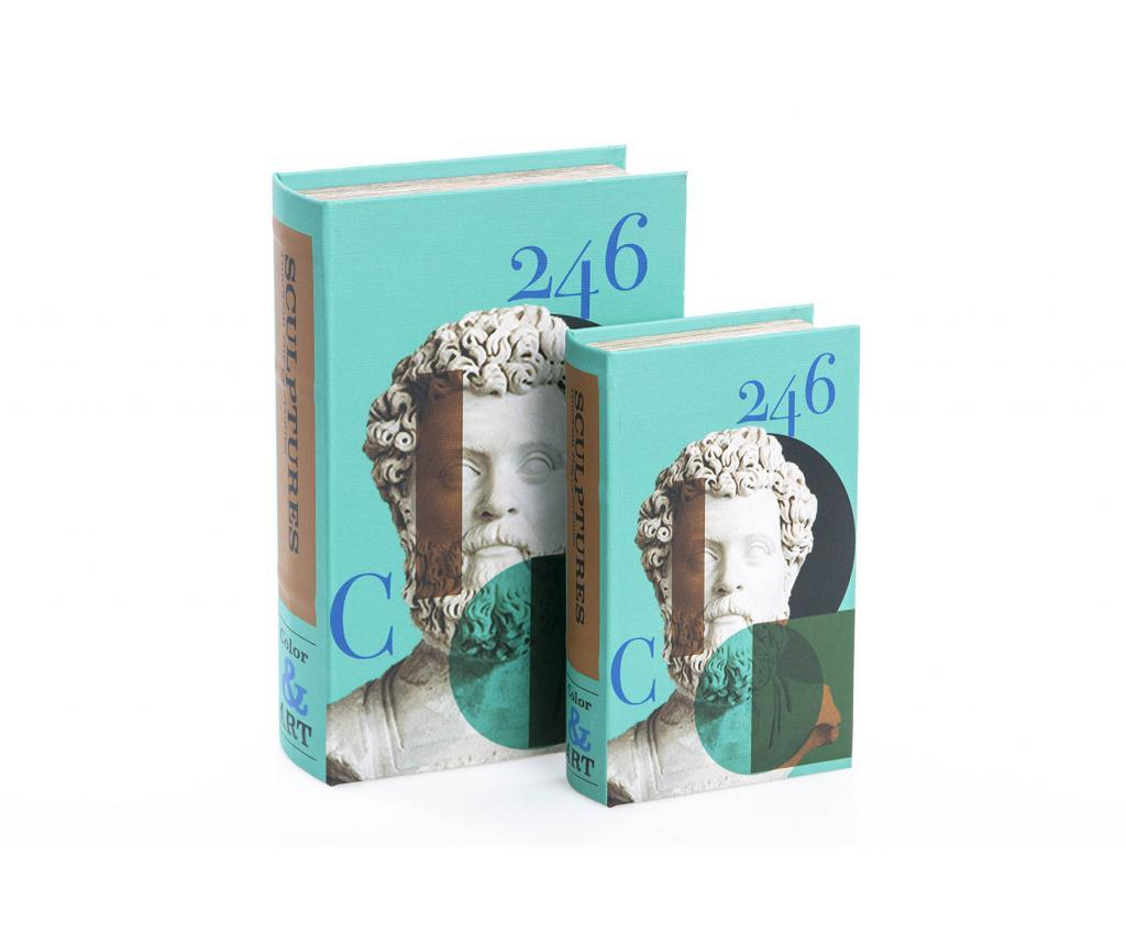 Set 2 cutii tip carte Hatty - Garpe Interiores, Multicolor