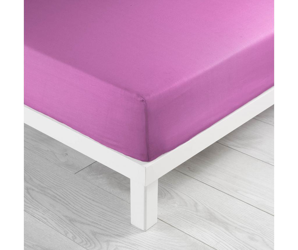 Cearsaf de pat cu elastic 180x200 cm - douceur d'intérieur, Roz