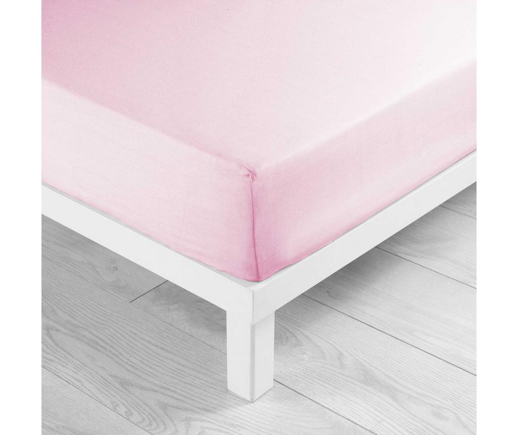 Cearsaf de pat cu elastic 160x200 cm - douceur d'intérieur, Roz