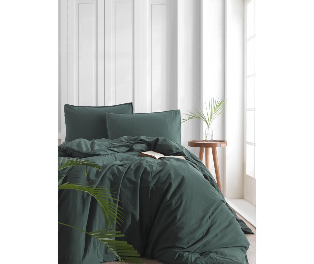 Lenjerie de pat King Extra Standart Dark Green - LIMASSO, Multicolor
