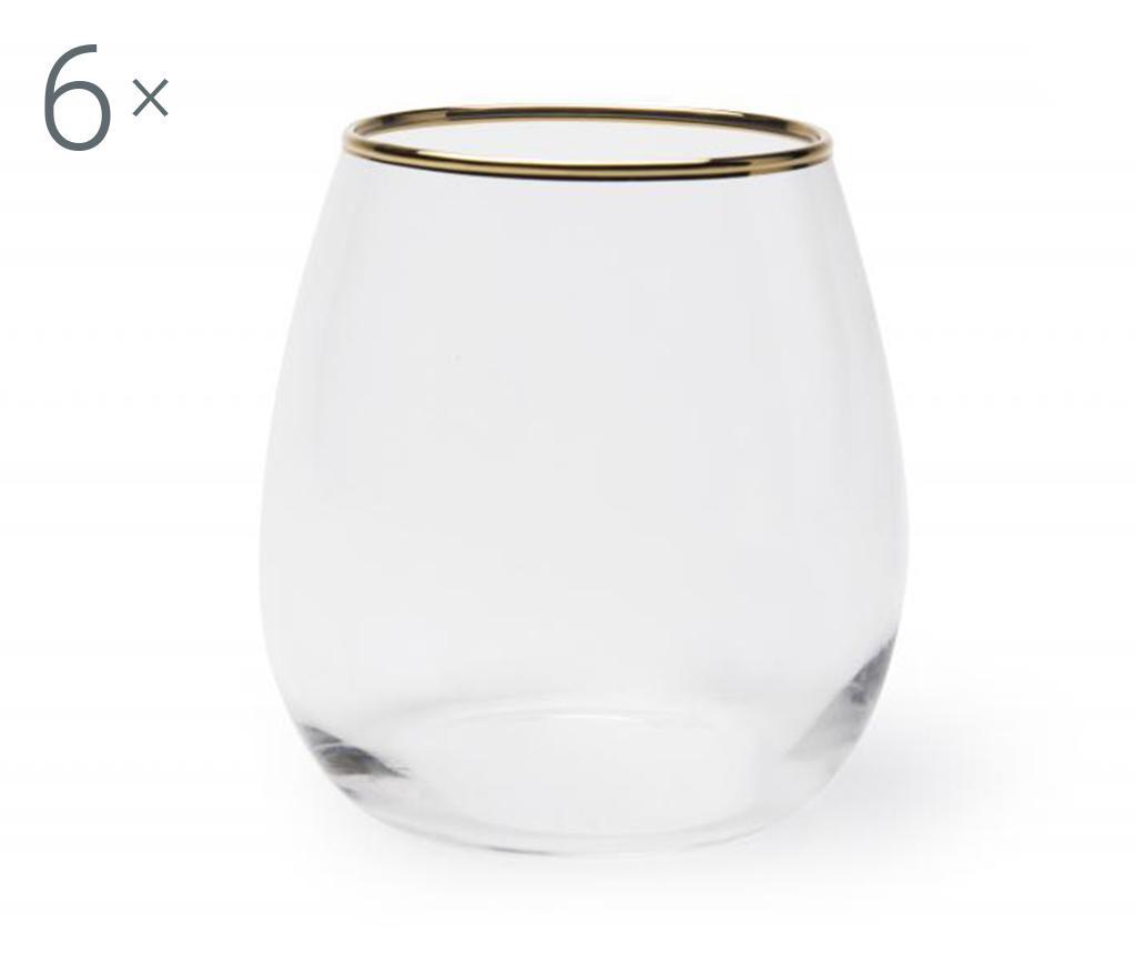 Set 6 pahare pentru apa - Excelsa, Multicolor